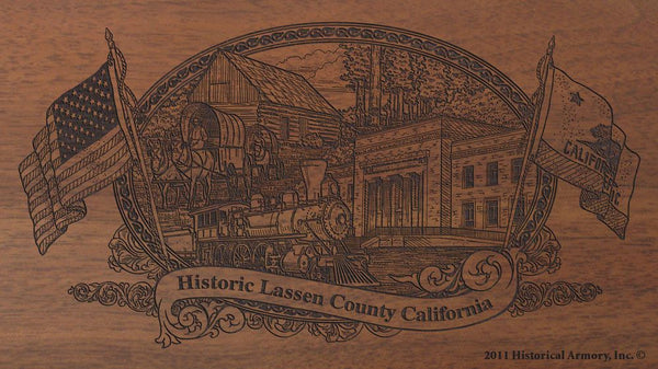 Lassen county california engraved rifle buttstock