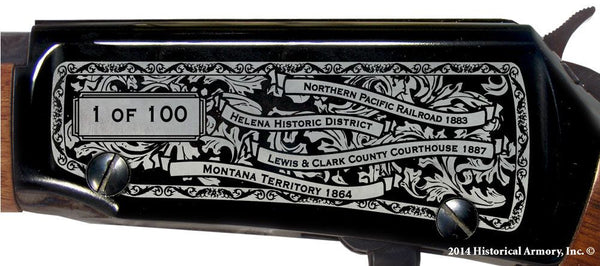 Lewis Clark county montana engraved rifle H001 Receiver