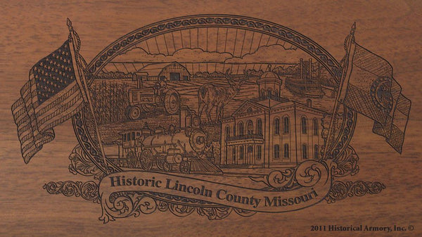 Lincoln county missouri engraved rifle buttstock
