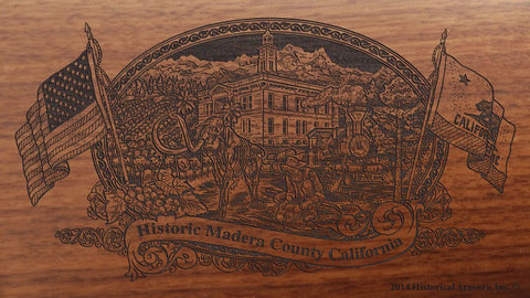 Madera county california engraved rifle buttstock