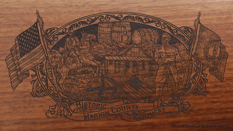 Marion county kentucky engraved rifle buttstock