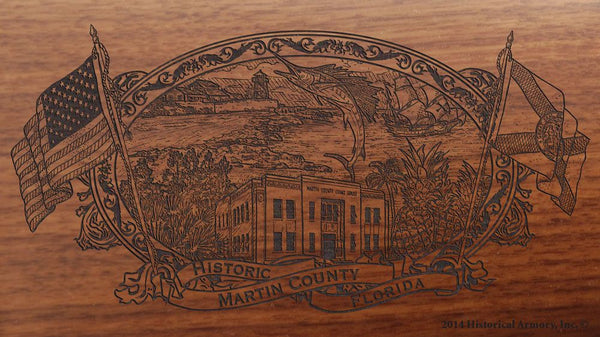 Martin county florida engraved rifle buttstock