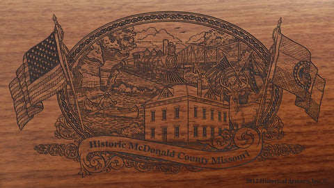 McDonald county missouri engraved rifle buttstock