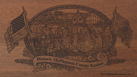McPherson county kansas engraved rifle buttstock