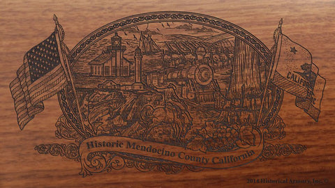 Mendocino county california engraved rifle buttstock