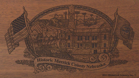 Merrick county nebraska engraved rifle buttstock