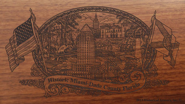 Miami Dade county florida engraved rifle buttstock