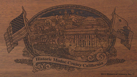Modoc county california engraved rifle buttstock