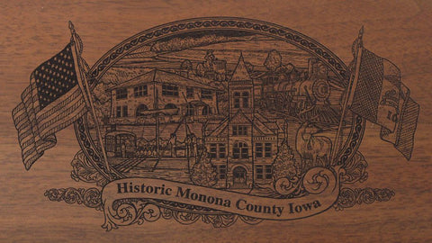 Monona county iowa engraved rifle buttstock