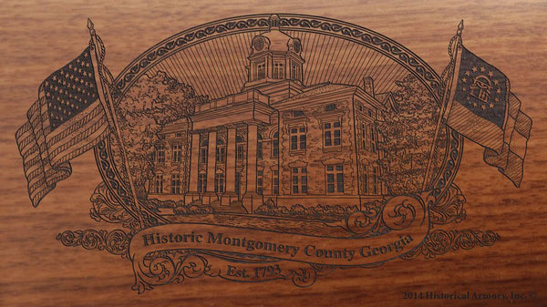 Montgomer county georgia engraved rifle buttstock