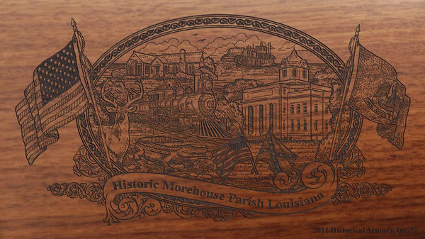 Morehouse parish louisiana engraved rifle buttstock