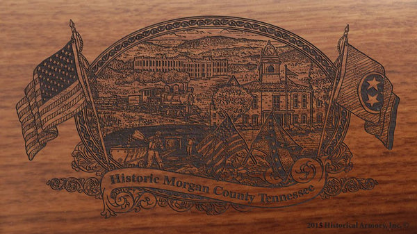 Morgan  county tennessee engraved rifle buttstock