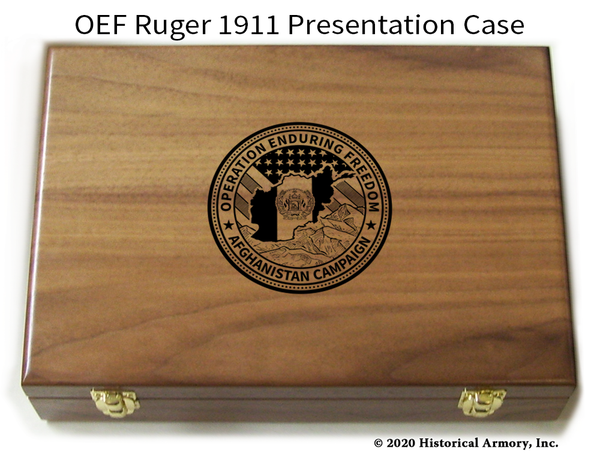 Operation Enduring Freedom Engraved 1911 Pistol Case