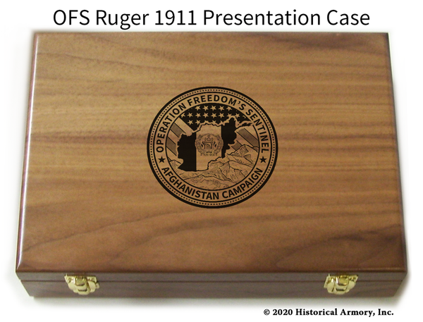 Operation Freedom's Sentinel Engraved 1911 Pistol Case