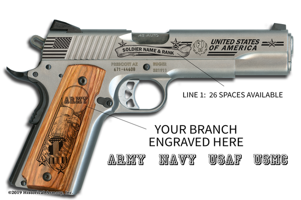 Operation Freedom's Sentinel Engraved 1911 Pistol