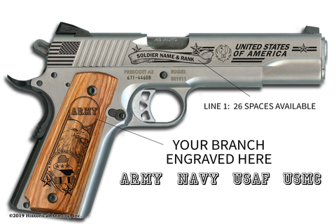 Operation Iraqi Freedom Edition 1911 engraved pistol