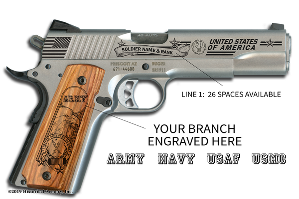 Operation Inherent Resolve Edition Engraved 1911