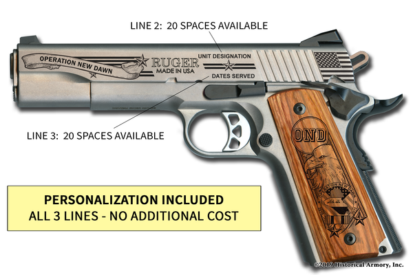 Operation New Dawn Edition Engraved 1911