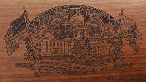Ozark county missouri engraved rifle buttstock