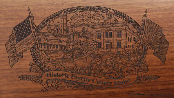 Payette county idaho engraved rifle buttstock