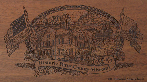 Perry county missouri engraved rifle buttstock