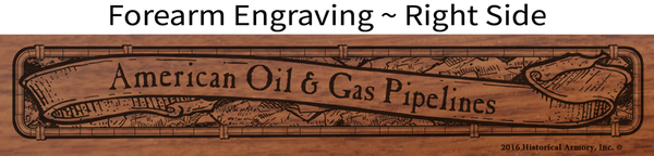 American Oil & Gas Pipeline Industry Engraved Rifle