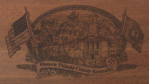 Pulaski county kentucky engraved rifle buttstock
