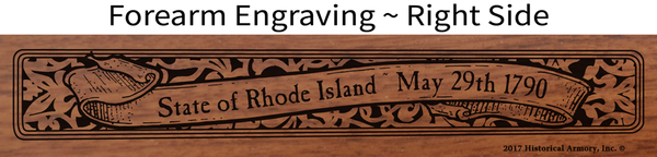Rhode Island State Pride Engraved Rifle