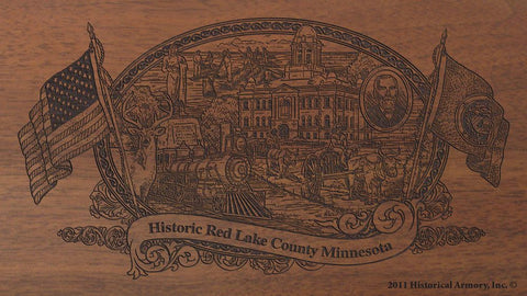 Red Lake county minnesota engraved rifle buttstock