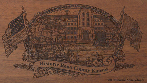 Reno county kansas engraved rifle buttstock