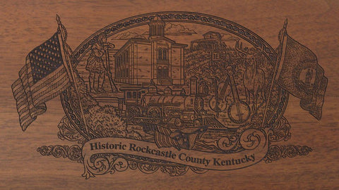 Rockcastle county kentucky engraved rifle buttstock