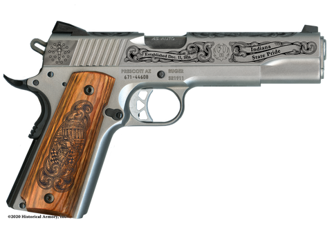 Indiana State Pride Limited Edition Engraved 1911