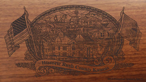 Rush county kansas engraved rifle buttstock