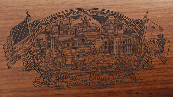 San Joaquin county california engraved rifle buttstock