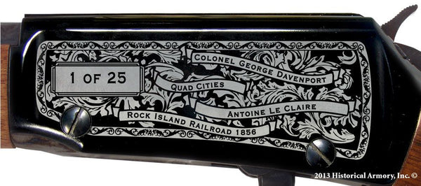 Scott county iowa engraved rifle H001 Receiver