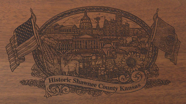 Shawnee county kansas engraved rifle buttstock