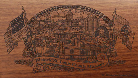 St Louis county missouri engraved rifle buttstock