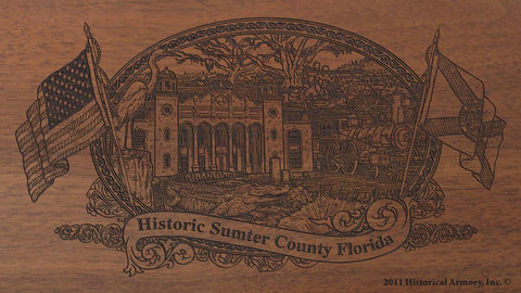 Sumter county florida engraved rifle buttstock
