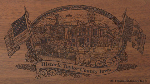 Taylor county iowa engraved rifle buttstock