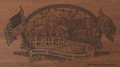 Thayer county nebraska engraved rifle buttstock