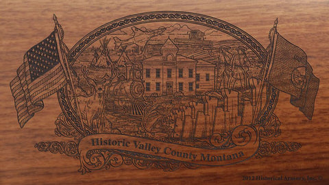 Valley county montana engraved rifle buttstock