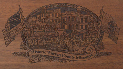 Warren county missouri engraved rifle buttstock