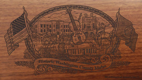 Washington county idaho engraved rifle buttstock