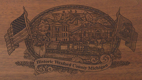 Wexford county michigan engraved rifle buttstock