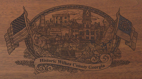 Wilkes county georgia engraved rifle buttstock