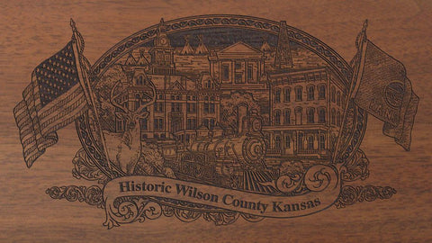Wilson county kansas engraved rifle buttstock