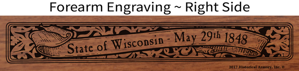 Wisconsin State Pride Engraved Rifle