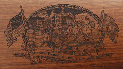 Woodford county kentucky engraved rifle buttstock
