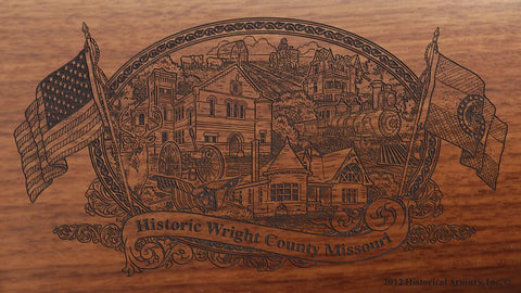 Wright county missouri engraved rifle buttstock