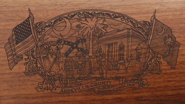 Abbeville County South Carolina Engraved Rifle